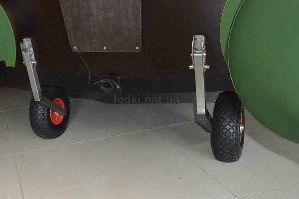 Транцевые колеса для лодки Автомат из нержавейки КТ-3Н