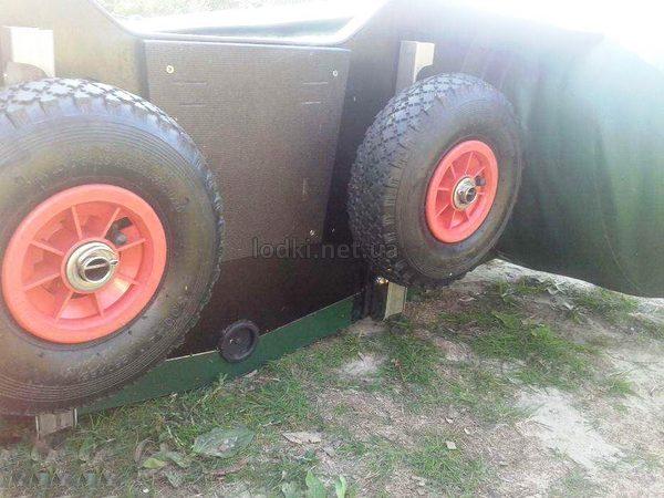 Транцевые колеса для лодки Трансформеры из нержавейки КТ-5Н