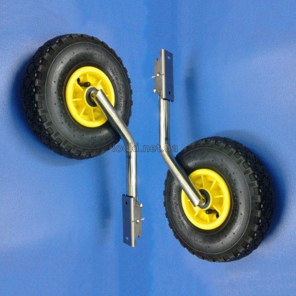 Транцевые колеса для лодки из нержавейки КТ-3НК