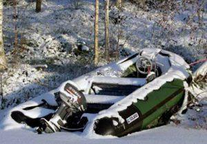 Хранение надувной лодки зимой