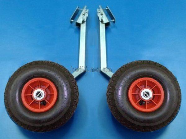Транцевые колеса для лодки с интерцептором КТ-3НИ