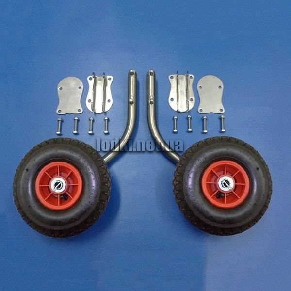 Транцевые колеса для лодки КТ-10НКУ усиленные