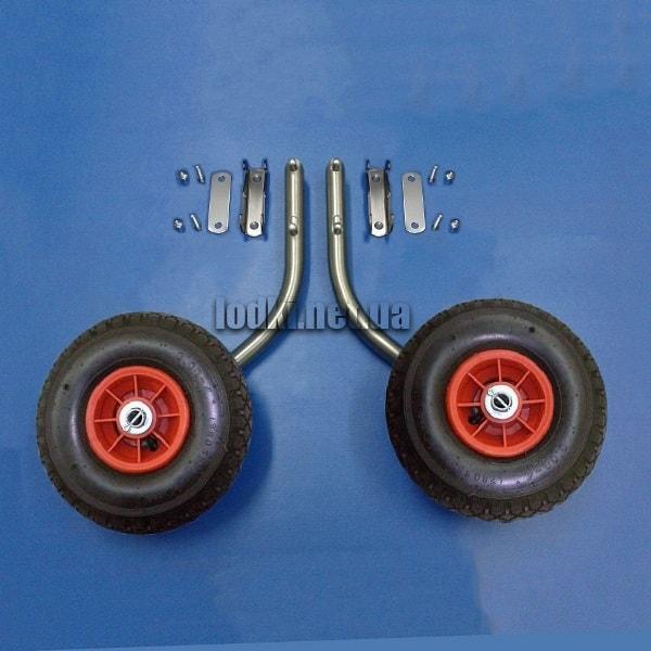 Транцевые колеса удлиненные КТ-10УНК для лодки с НДНД